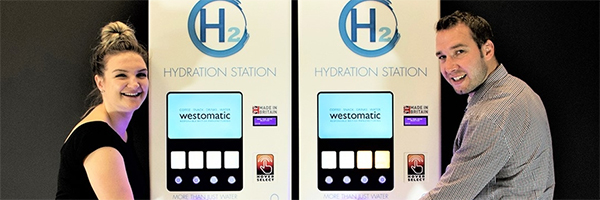 Westomatic introduces no-touch water and juice refill dispenser