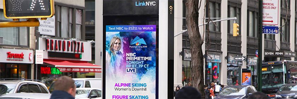 Intersection digital screens to carry NBC Winter Olympics coverage