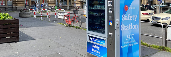 Selecta rolls out safety stations to help Europeans return to work