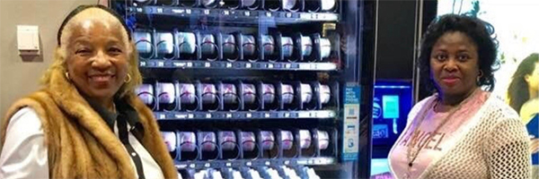 Hair care vending machine installed at Baltimore/Washington airport